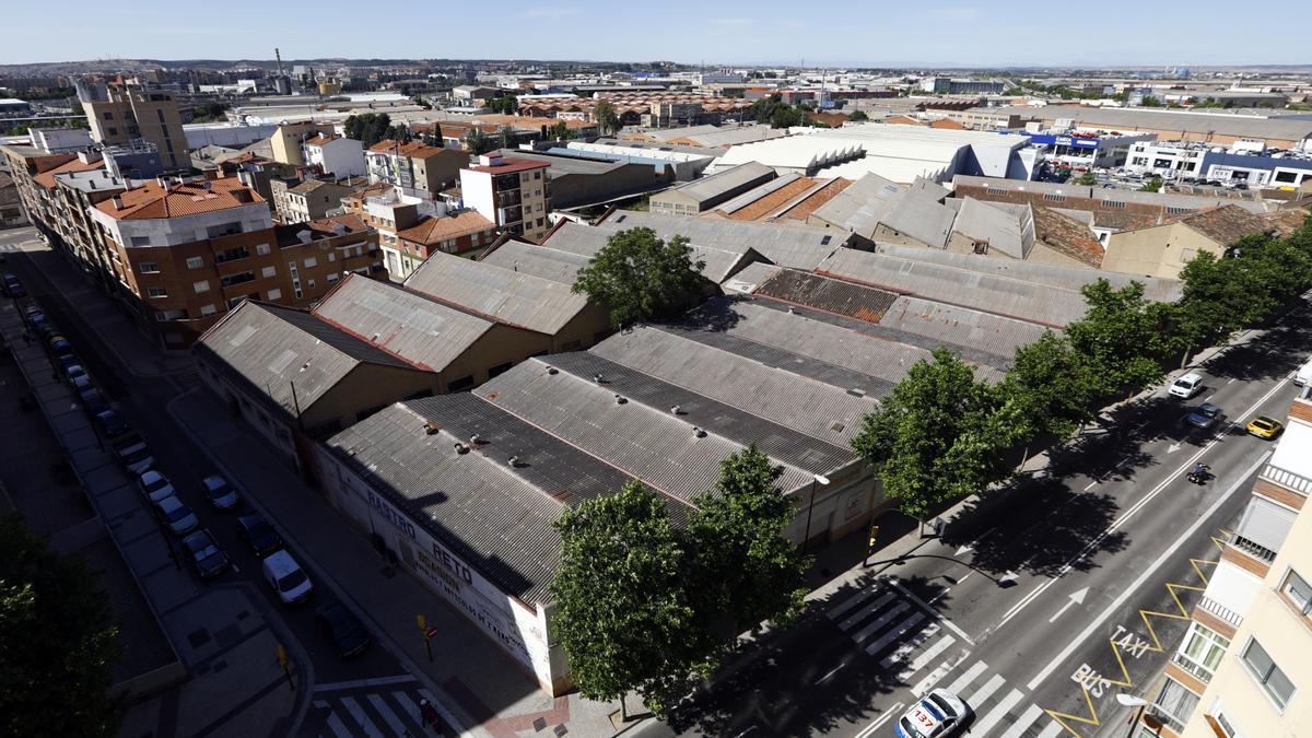 El polígono de Cogullada de Zaragoza precisa de una reurbanización.