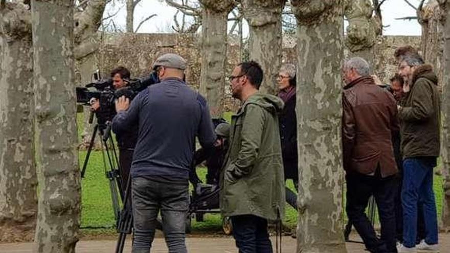 Grabación del programa de Ariet Rot para TVE en el castillo de Santa Cruz