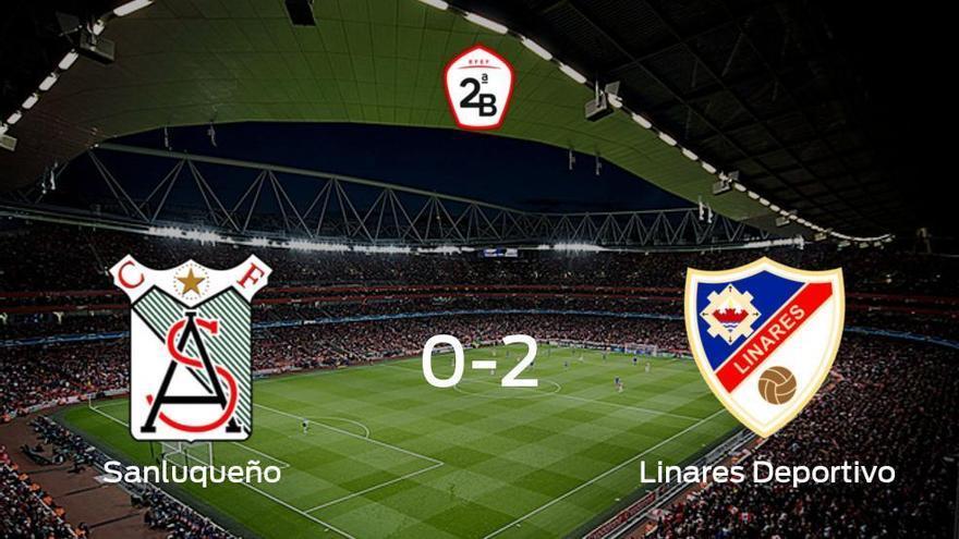 El Linares Deportivo suma tres puntos a su casillero frente al At. Sanluqueño (0-2)