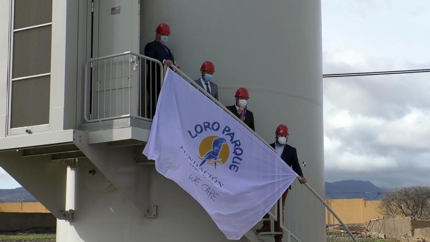 Un aerogenerador permite a Grupo Loro Parque generar misma energía que consume