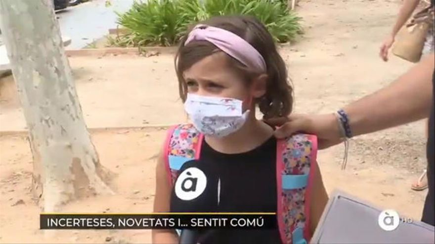 """""""Es mejor que morirse"""", la respuesta de una niña sobre las mascarillas en la vuelta al cole"""