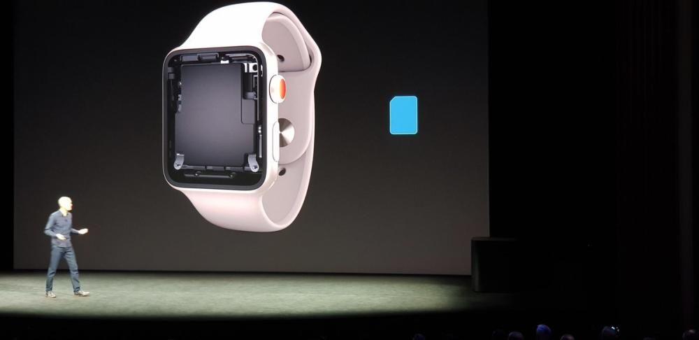 El nuevo Apple Watch Series 3 es también teléfono, pero no lleva SIM, sino eSim.