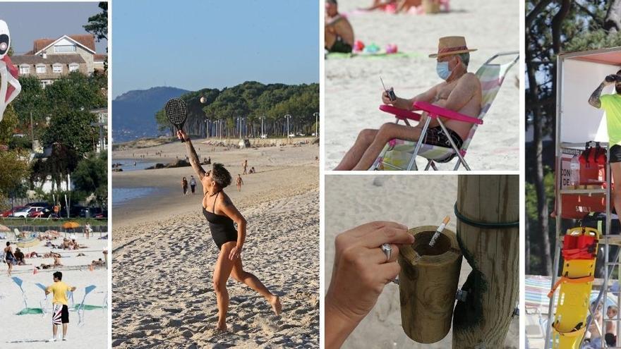 Ojo con las palas, la música o las colillas en las playas de Vigo: multas de hasta 750 euros