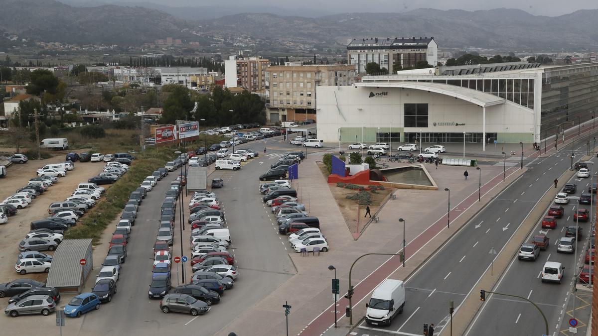 Imagen aérea de la zona de la estación de Renfe de Castelló.