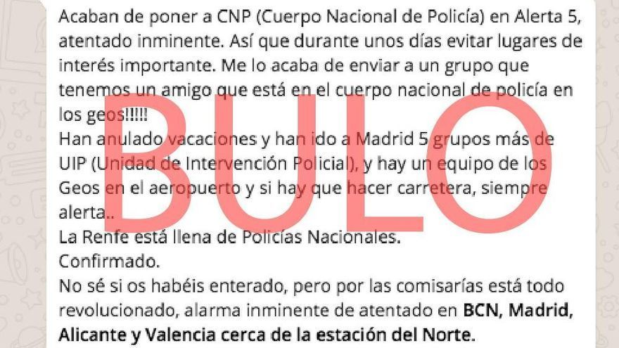 Vuelve el bulo de atentado terrorista en València