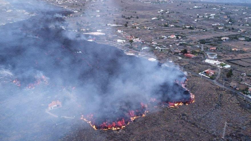 Siete carreteras, cerradas por la erupción de La Palma