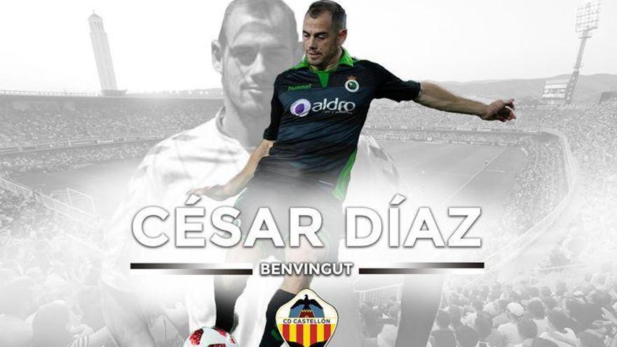 Cambio de cromos en la delantera del Castellón: llega César Díaz y se marcha Máyor