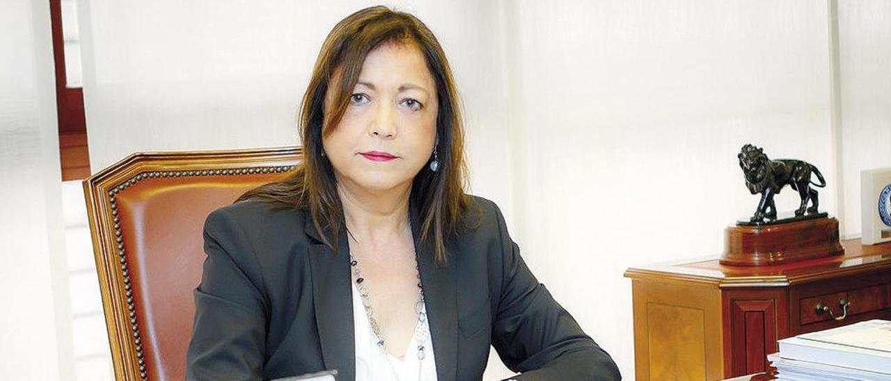 Pilar Otero, en su despacho. // FdV