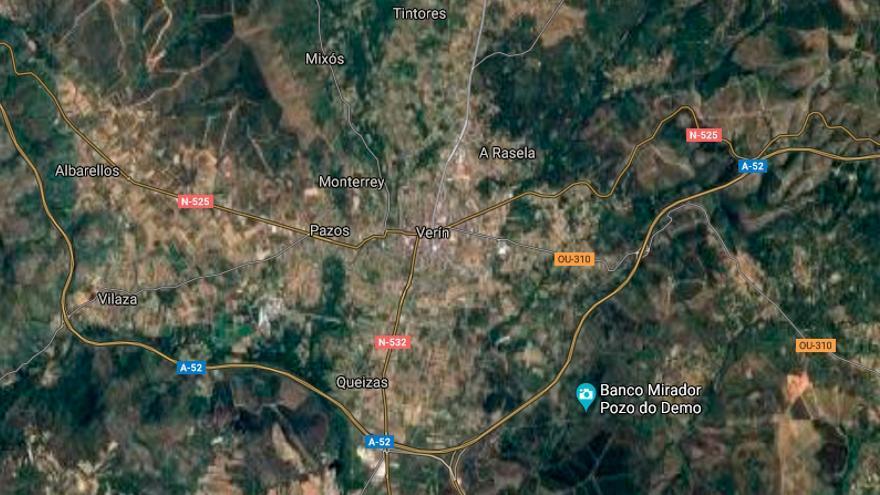 Dos heridos en una salida de vía en la A-52 en Ourense