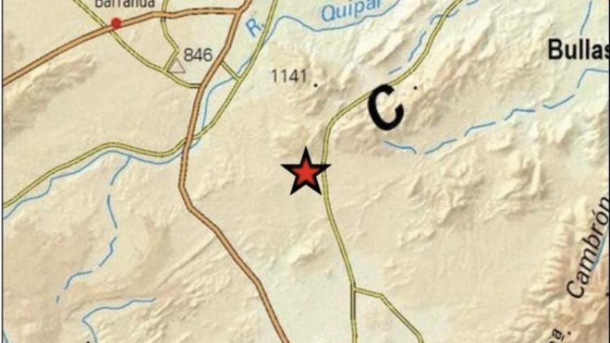 Un terremoto de 3,9 con epicentro en Caravaca se deja sentir en varios municipios