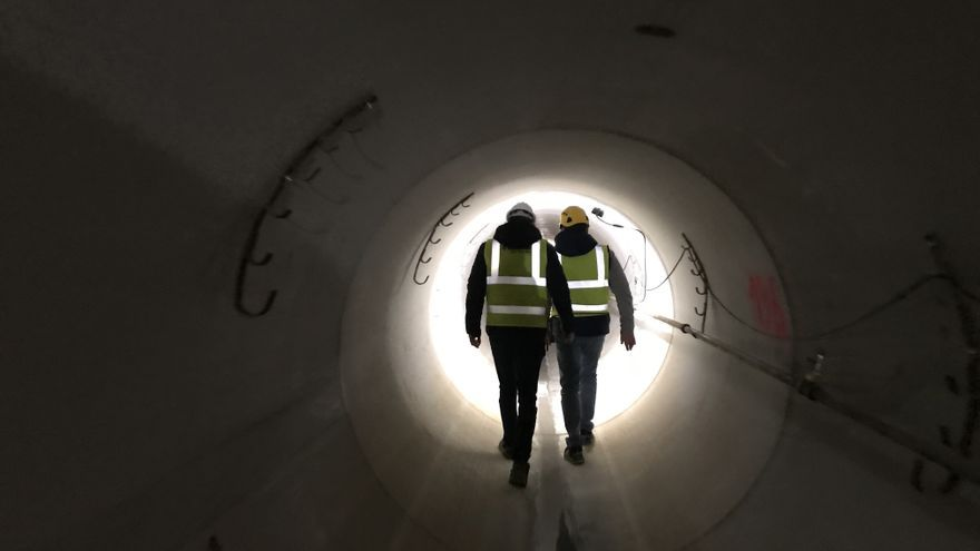Emaya finaliza el primer tramo del gran colector de avenidas