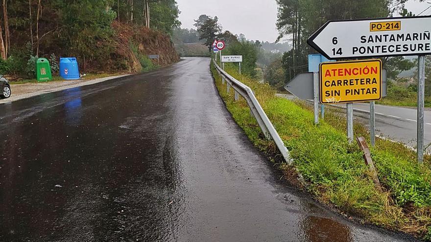 La Xunta seguirá corrigiendo la deformación del firme del vial a Cesures en años próximos
