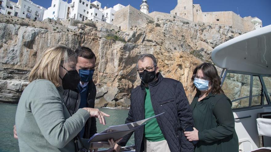 La Diputación impulsará la protección de los acantilados de Peñíscola
