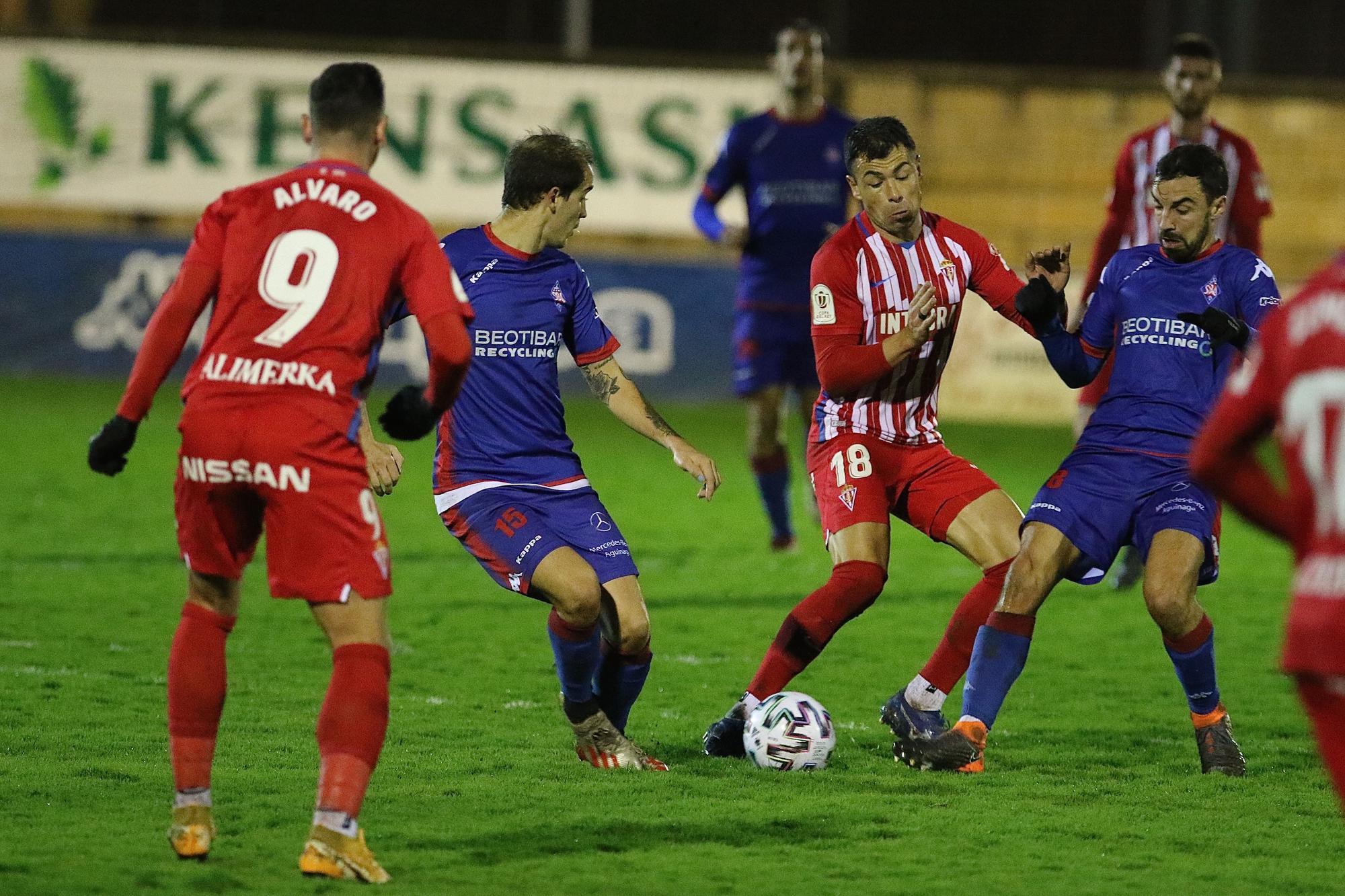 El partido de Copa del Sporting, en imágenes