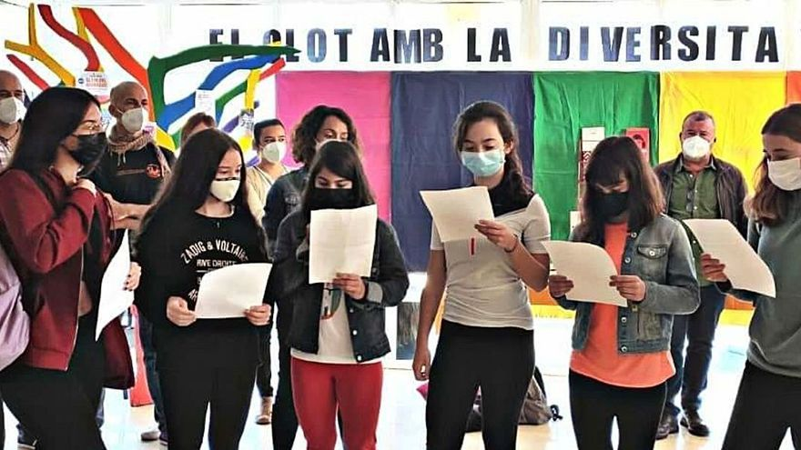 Protesta en el IES Clot del Moro