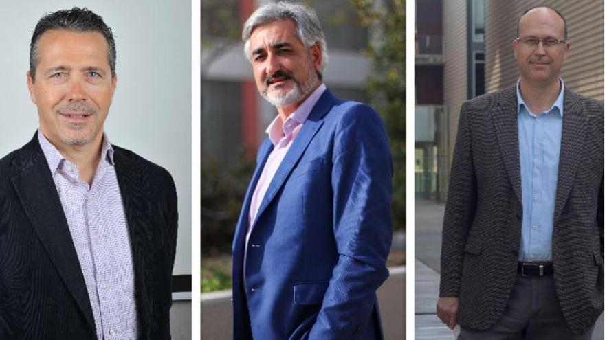 Tres candidatos al rectorado de la UPV