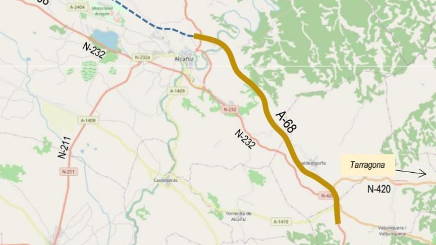Transportes licita la redacción de un nuevo tramo de la A-68