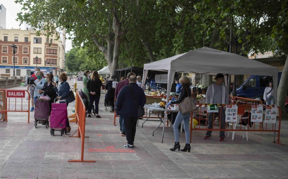 El mercado ambulante de Xàtiva se traslada a la avenida Selgas