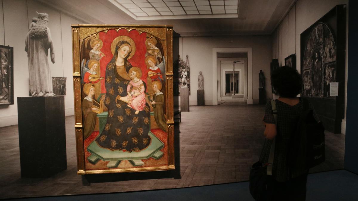 La recreació de l'exposició d'art català salvat de la Guerra Civil, a París l'any 1937