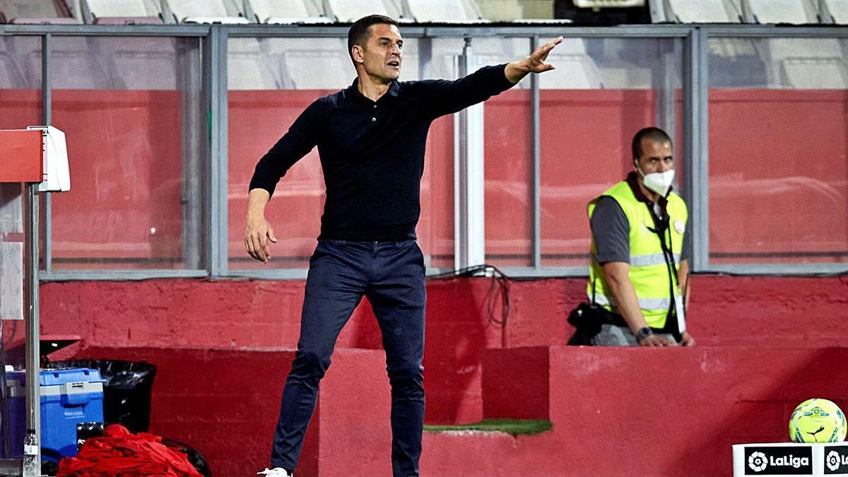 Francisco, durant el partit de diumenge passat contra el Rayo a Montilivi.  | EFE/DAVID BORRAT