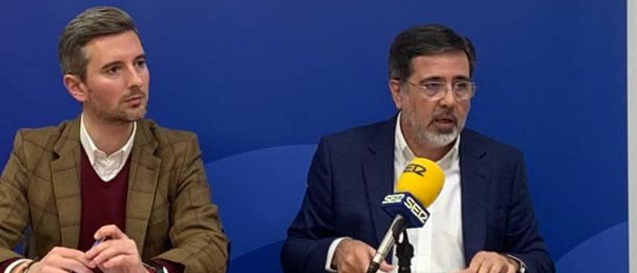 Víctor Soler y Alfredo Castelló, en la rueda de prensa de ayer.