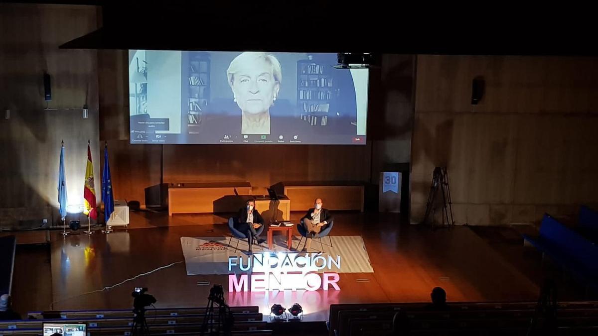 Un instante de la charla. // Fundación Mentor