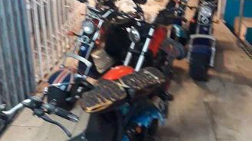 Brand in Motorrad-Verleih an der Playa de Palma
