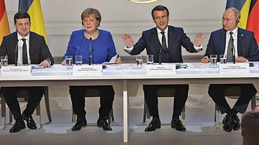 El Quartet de Normandia acorda impulsar un alto el foc a l'est d'Ucraïna