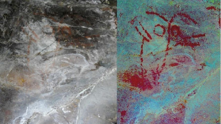 Presentan los análisis de las pinturas rupestres de Casaio
