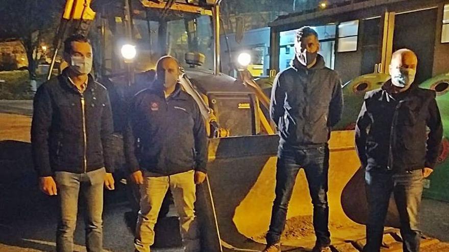 La brigada de obras de la Macomunidade reforzará la municipal con mejoras en pistas rurales en Lalín