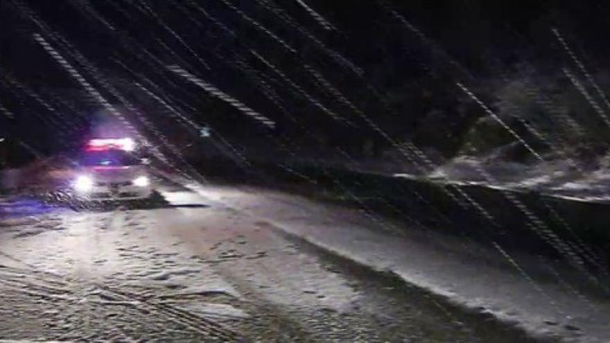 La nieve dificulta la circulación en Lugo y Ourense