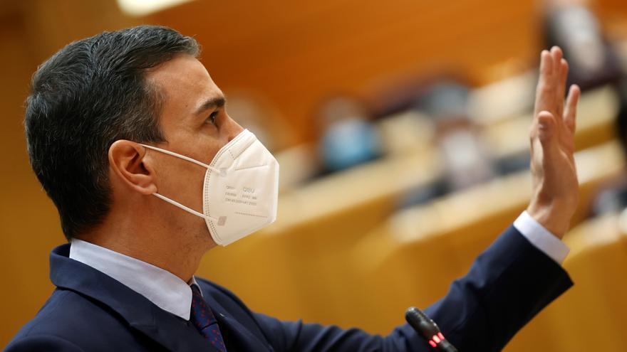 Sánchez contesta en el Senado a PP, Vox y Coalición Canaria