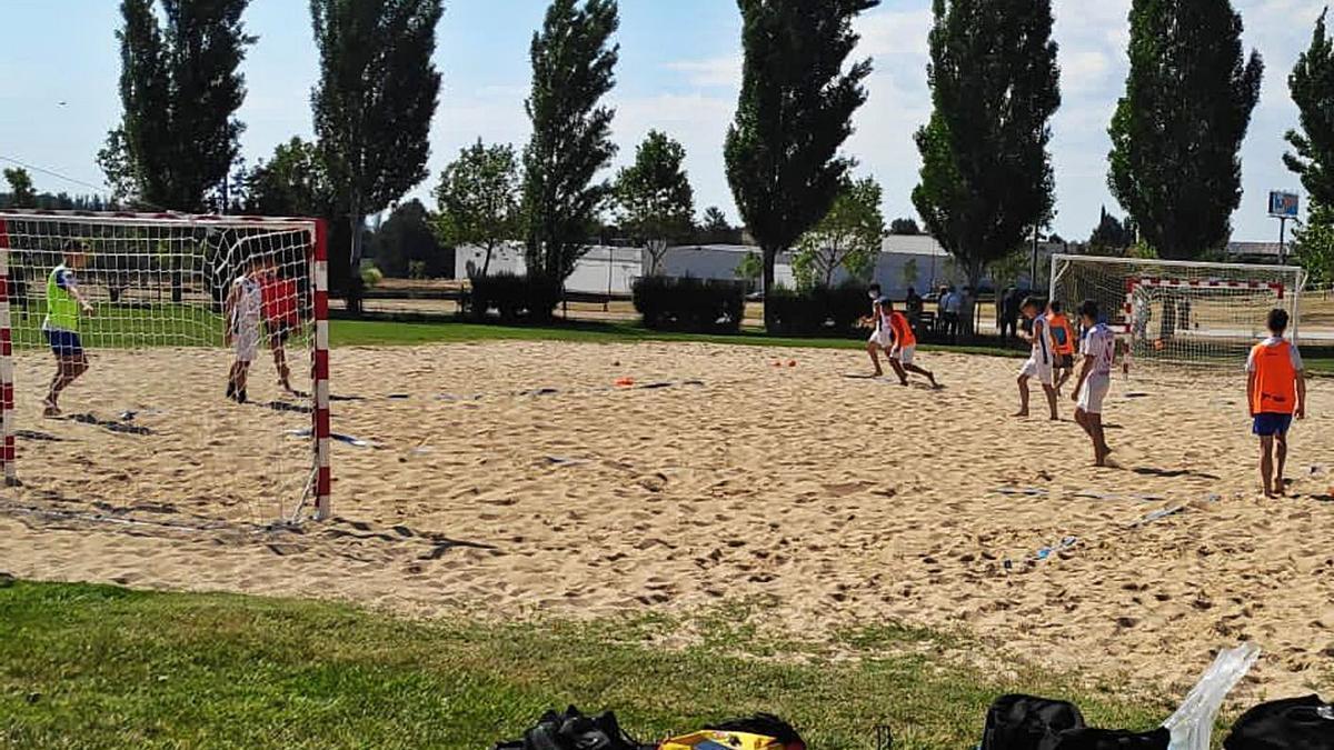 Imagen del entrenamiento celebrado el pasado sábado del combinado regional juvenil.