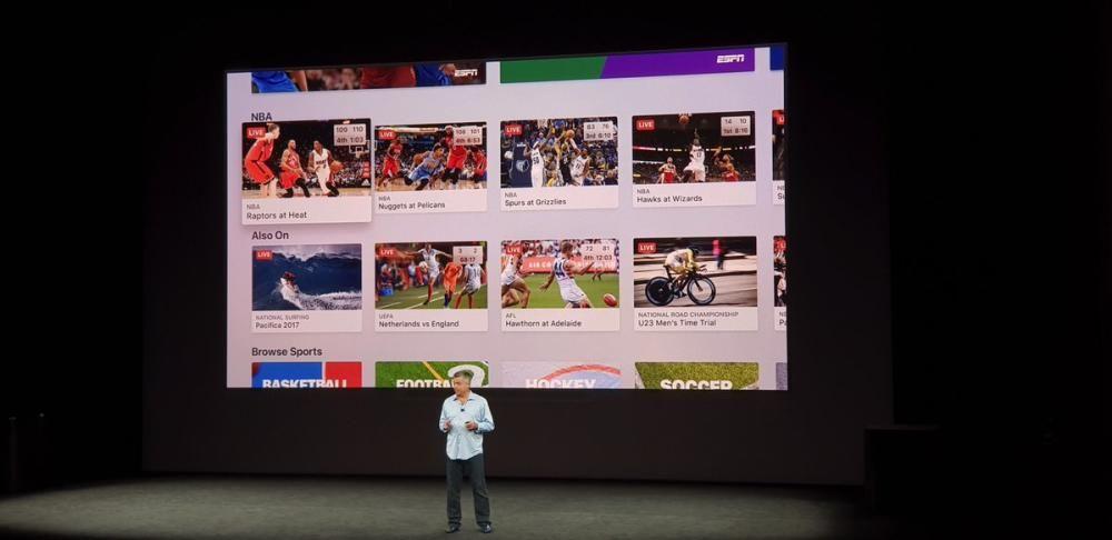 Habrá deportes en directo en la app del Apple TV 4K.