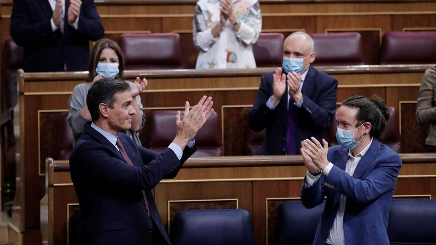 """Sánchez opone su gestión al """"odio"""" de Abascal y pide a Casado que rompa con él"""