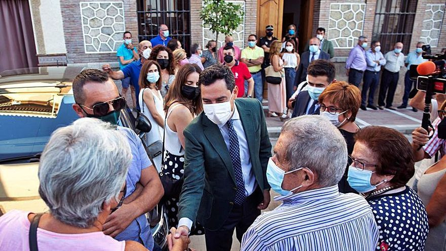 Juanma Moreno defiende la Autovía del Agua y el trasvase a la Axarquía
