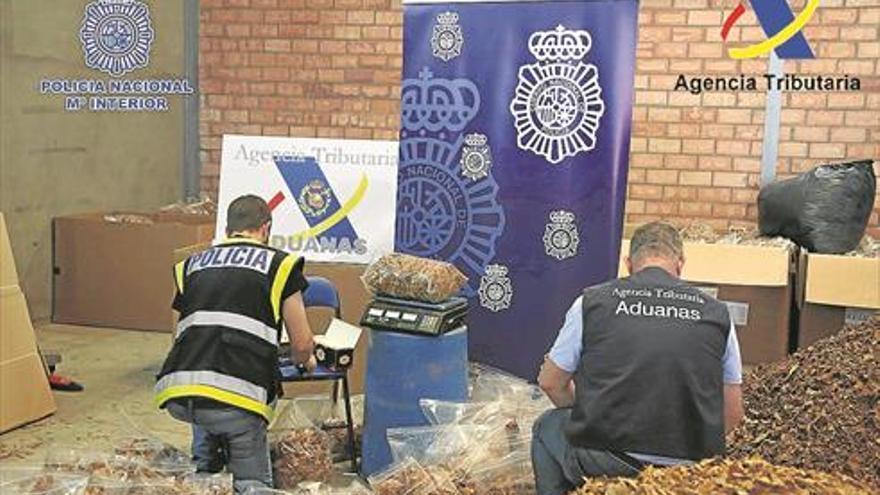 La 'operación Rama' se cierra con 62 detenidos y 69 toneladas de tabaco ilegal