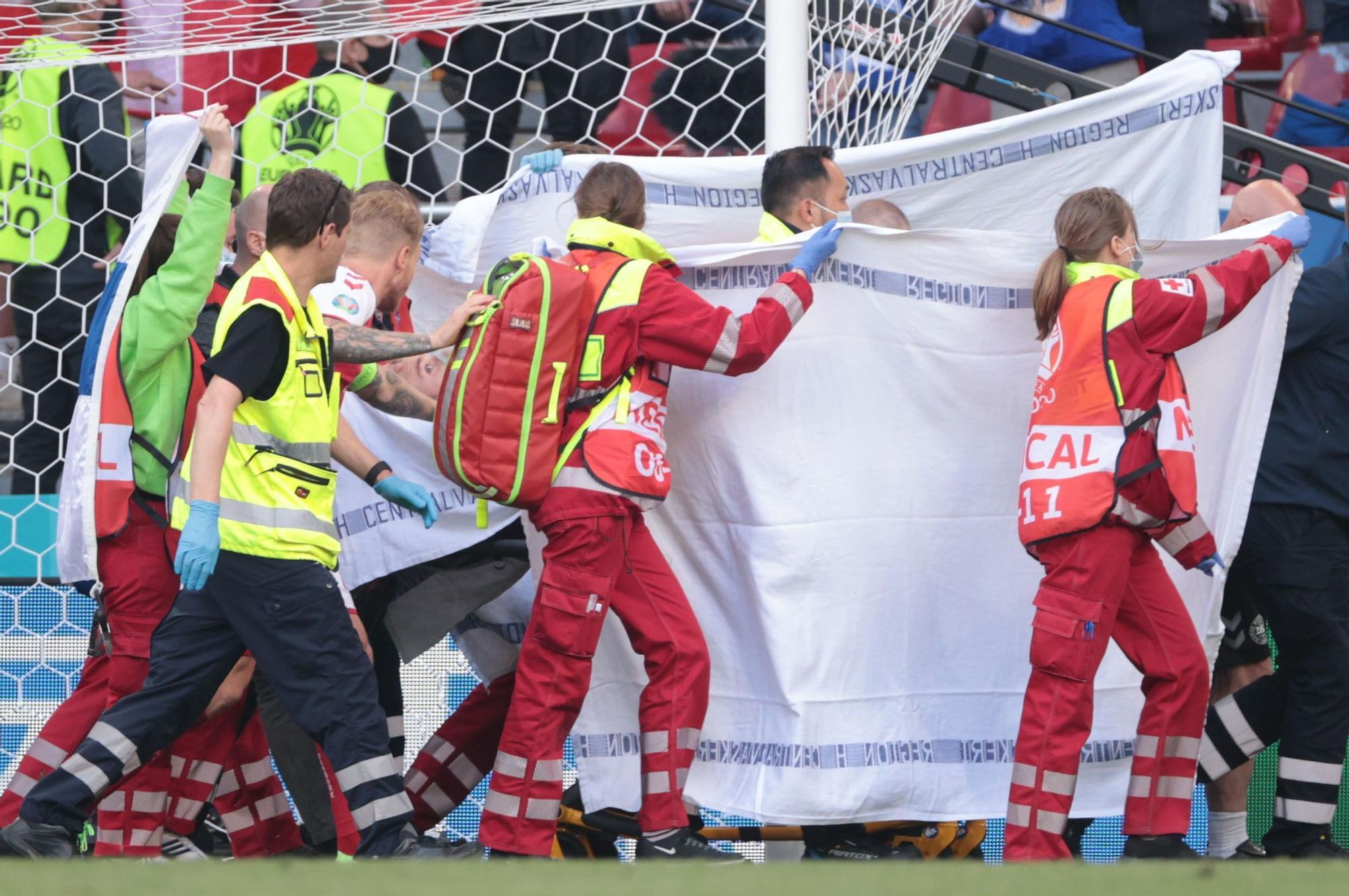 Conmoción en la Eurocopa: así se ha Dinamarca-Finlandia tras el desvanecimiento de Eriksen