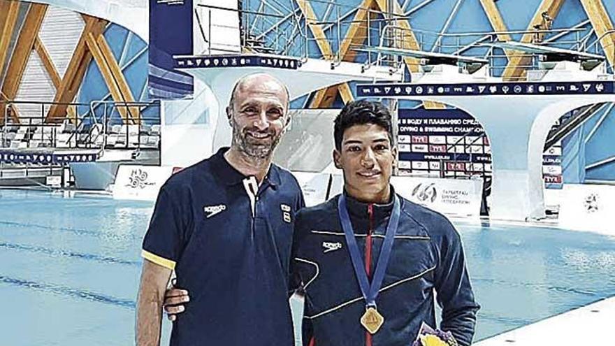 Abadía, campeón de Europa junior en salto de 1 metro