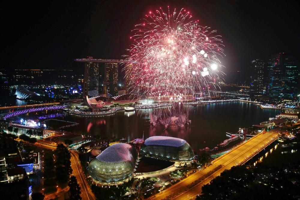Singapur celebra en fin de año.