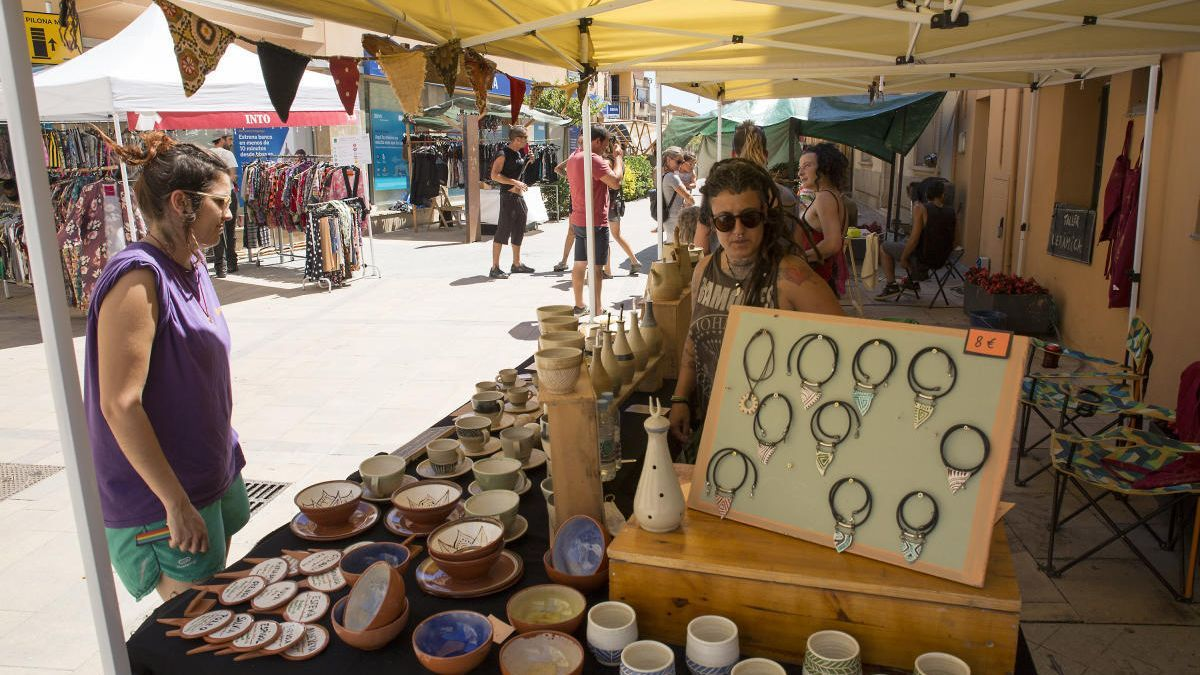 Mercat ecològic del passat diumenge a Sant Pere