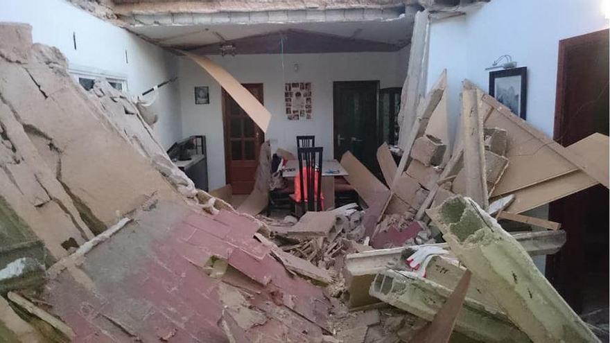 Nächtlicher Hauseinsturz in El Toro