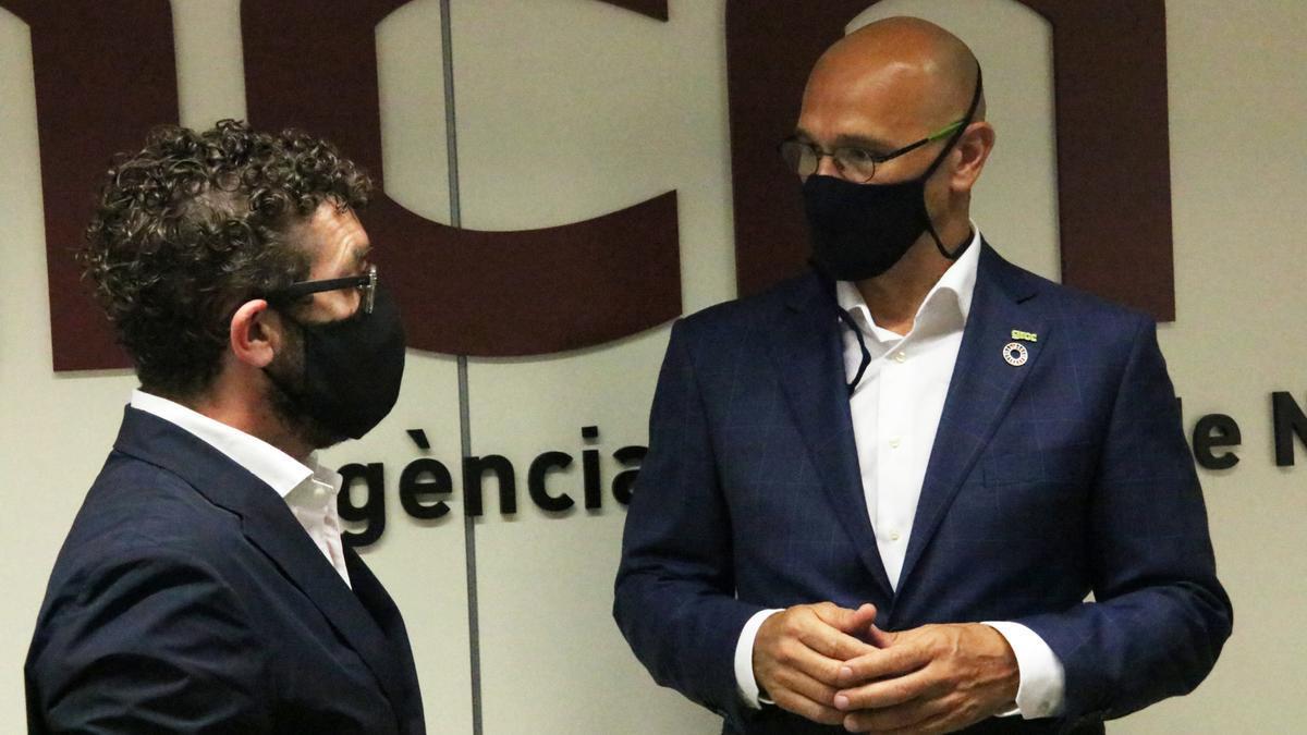 El pres indultat d'ERC Raül Romeva, després de l'entrevista a l'ACN.