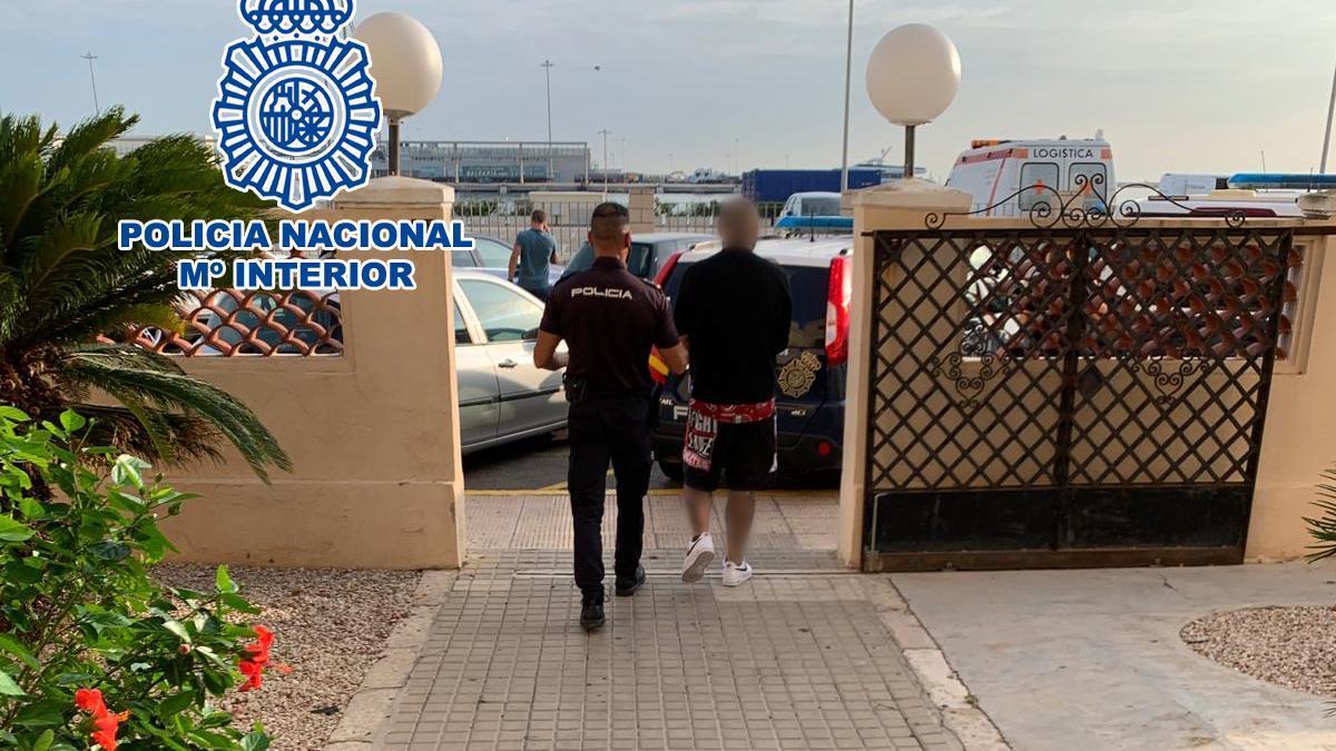 El detenido en Dénia