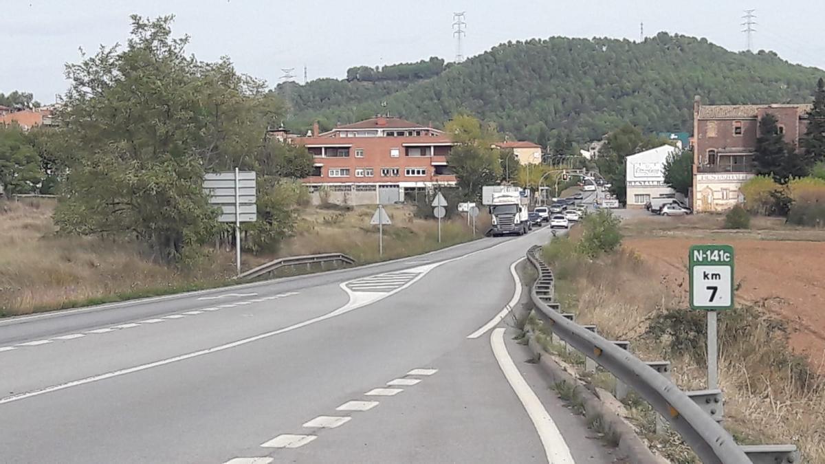 Tram de Sant Fruitós a Torroella on es planteja un carril bici