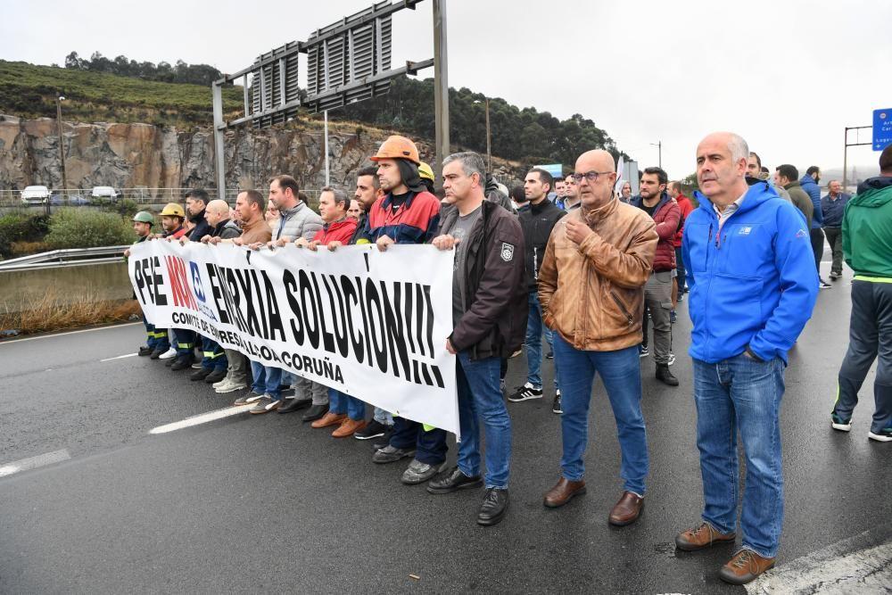 Manifestación de trabajadores de Alcoa en A Coruña
