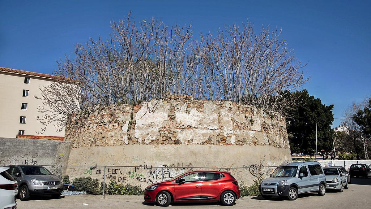 Lo que queda de la Noria de Godino, datada en el siglo XVII, esta semana.