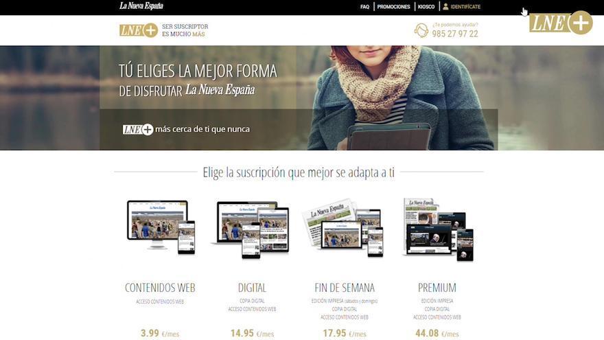 Todos los contenidos de la edición digital de LA NUEVA ESPAÑA, por menos de 4 euros al mes: Descubre aquí cómo hacerte suscriptor paso a paso