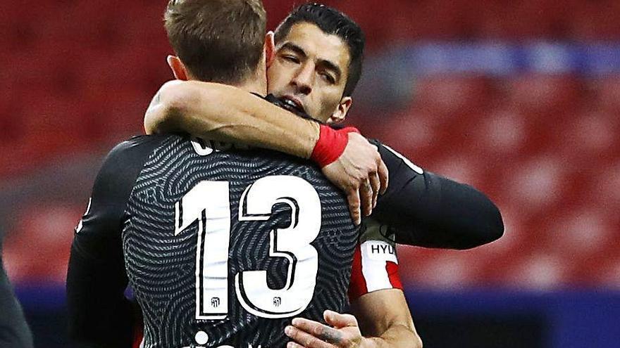 Victòria de l'Atlètic amb Suárez i Oblak de protagonistes