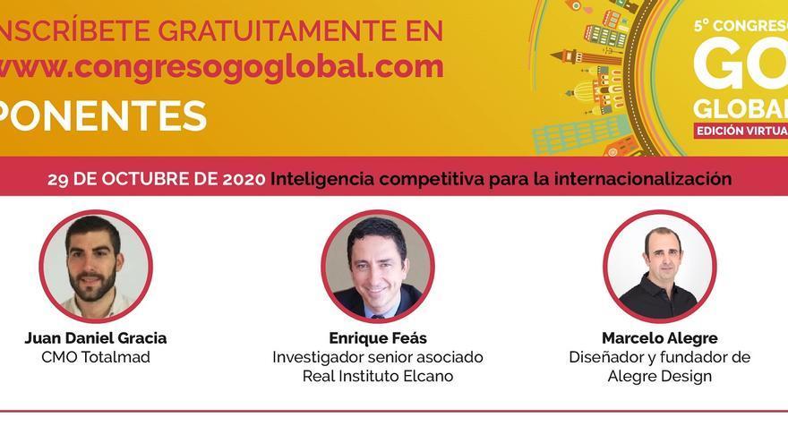 Expertos en inteligencia artificial, sostenibilidad y digitalización participarán en el Congreso Go Global edición virtual